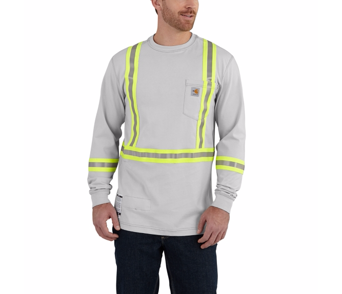 Carhartt 101699 Mens Flame Resistant Striped Force Cotton Long