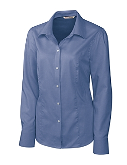 Cutter &  Buck Ladies CB L/S Epic Easy Care Nailshead Shirt