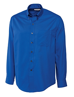 Cutter &  Buck - MCW09180 Men's CB L/S Epic Easy Care Fine Twill Shirt, Pensacola, Embroidery, Screen Printing, Logo Masters International