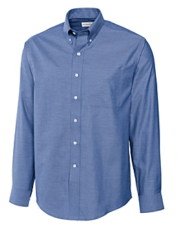 Cutter &  Buck - MCW09316 Men's Epic Easy Care Royal Oxford Shirt, Pensacola, Embroidery, Screen Printing, Logo Masters International