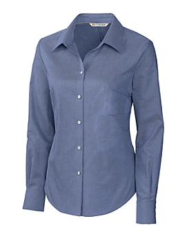Cutter &  Buck - LCW08399, Ladies L/S Epic Easy Care Royal Oxford Shirt - Logo Masters International