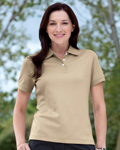 Devon & Jones - D140SW, Devon & Jones Ladies Solid Perfect Pima Interlock Polo - Logo Masters International