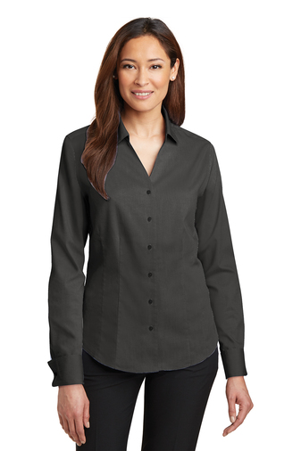 54820e1f Red House - RH63, Ladies French Cuff Non-Iron Pinpoint Oxford Shirt,  Embroidery