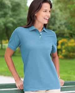 Devon & Jones - D112W, Womens Pima Pique Polo Shirt, Embroidery, Screen Printing - Logo Masters International