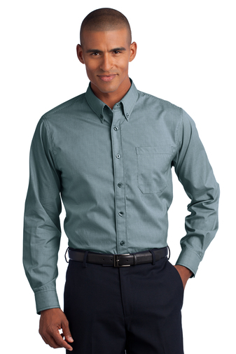Red House - RH66 Mens Mini-Check Non-Iron Shirt, Pensacola, Embroidery, Screen Printing, Logo Masters International