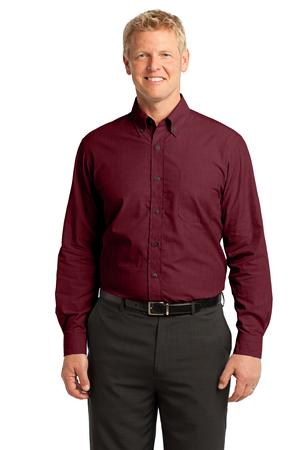 Port Authority - S640 Mens Crosshatch Easy Care Button Down Shirt, Pensacola, Embroidery, Screen Printing, Logo Masters International