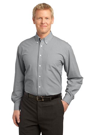 Port Authority - S639 Mens Plaid Pattern Easy Care Button Down Shirt , Pensacola, Embroidery, Screen Printing, Logo Masters International