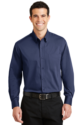 Port Authority - S613 Mens Tonal Pattern Easy Care Button Down Shirt, Pensacola, Embroidery, Screen Printing, Logo Masters International