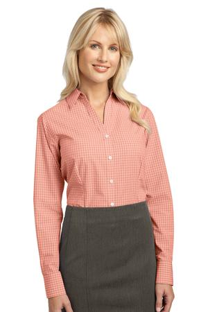 Port Authority - L639 Ladies Plaid Pattern Easy Care Button Down Shirt, Pensacola, Embroidery, Screen Printing, Logo Masters International