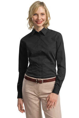 Port Authority - L613 Ladies Tonal Pattern Easy Care Button Down Shirt, Pensacola, Embroidery, Screen Printing, Logo Masters International