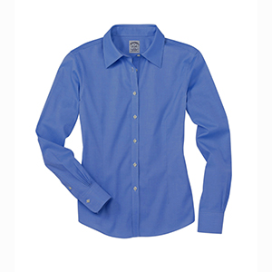 Brooks Brothers - WV400, Ladies Supima Wrinkle Free Pinpoint Cotton Shirt - Logo Masters International