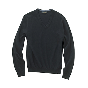 Brooks Brothers - SW700, Mens Italian Merino Wool V-neck Sweater, Embroidery, Screen Printing - Logo Masters International