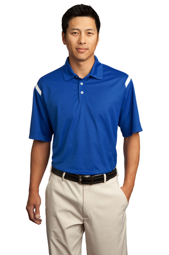 Nike - 402394 Mens Dri-FIT Shoulder Stripe Sport Shirt, Pensacola, Embroidery, Screen Printing, Logo Masters International