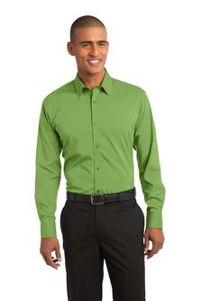 Port Authority - S646 Mens Stretch Poplin Embroidered Shirt, Pensacola, Embroidery, Screen Printing, Logo Masters International