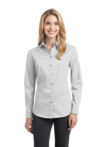Port Authority - L646 Ladies Stretch Poplin Embroidered Shirt, Pensacola, Embroidery, Screen Printing, Logo Masters International