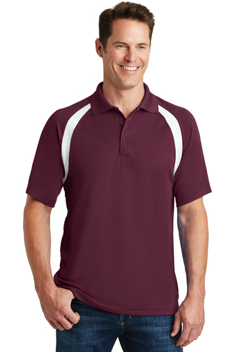 Sport-Tek - T476, Men's Dry-Zone Colorblock Raglan Polo Shirt - Logo Masters International