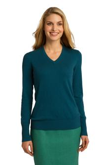 Port Authority - LSW285 Ladies V-neck Sweater, Pensacola, Embroidery, Screen Printing, Logo Masters International