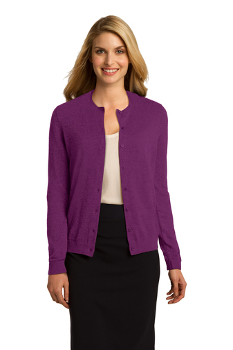 Port Authority - LSW287, Ladies 8 Button Fine Gauge Cardigan, Embroidery, Screen Printing - Logo Masters International