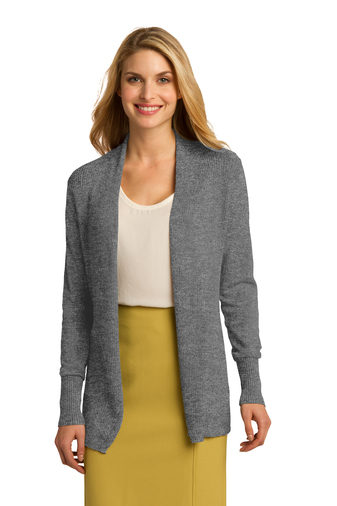 Port Authority - LSW289 Ladies Open Front Embroidered Cardigan, Pensacola, Embroidery, Screen Printing, Logo Masters International