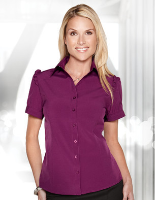 Lilac Bloom - LB752, Ladies Poly Spandex Short Sleeve Shirt - Logo Masters International