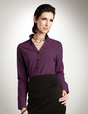 Lilac Bloom - LB757 Ladies Poly Spandex Open Neck Shirt