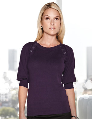 Lilac Bloom - LB925, Ladies Emma 3/4 Puff Sleeve Sweater - Logo Masters International