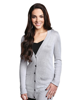 Lilac Bloom - LB928, Ladies Elizabeth Boyfriend Cardigan Sweater - Logo Masters International