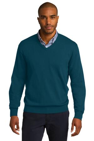 Port Authority - SW285, Mens V-Neck Long-Sleeve Sweater, Embroidery, Screen Printing - Logo Masters International