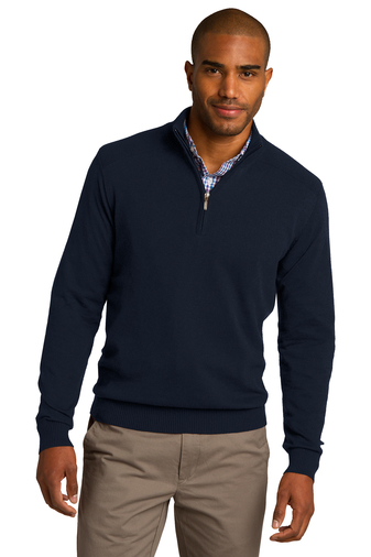 Port Authority - SW290, Mens 1/2 Zip Sweater, Embroidery, Screen Printing - Logo Masters International