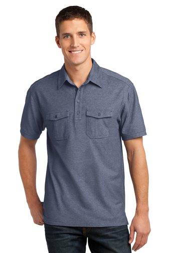 Port Authority - K557 Oxford Pique Double Pocket Polo