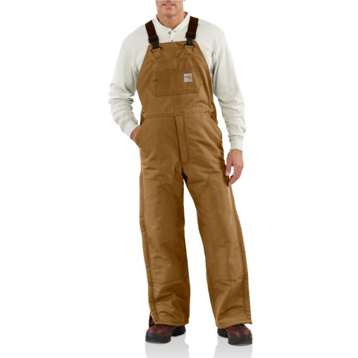 Flame-Resistant Duck Bib Lined Overall , Embroidery, Screen Printing - Logo Masters International