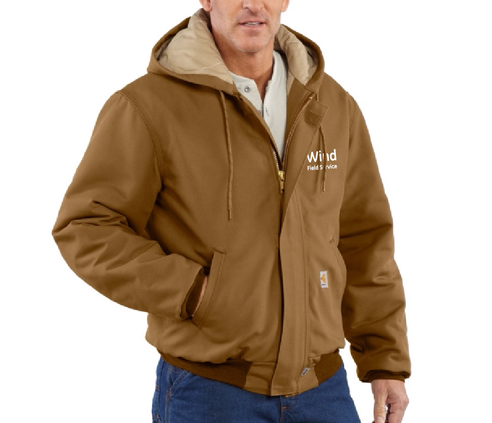 Carhartt - 101621-GE Flame-Resistant Cold Gear Duck Active Jacket - Quilt Lined, Pensacola, Embroidery, Screen Printing, Logo Masters International