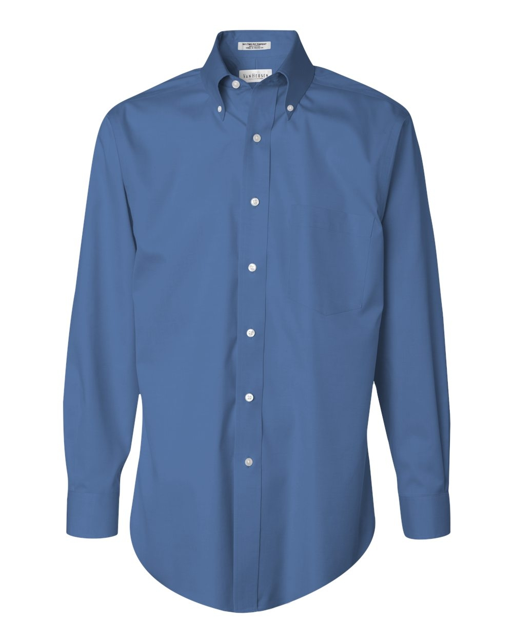 Van Heusen - 13v00143 Van Heusen - Mens No-Iron Pinpoint Oxford Shirt, Pensacola, Embroidery, Screen Printing, Logo Masters International