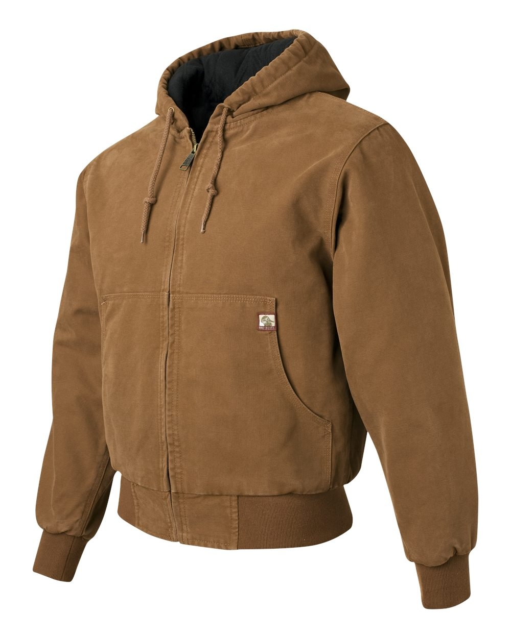 Dri Duck - 5020, Dri Duck Mens Hooded Boulder Cloth Jacket with Tricot Quilt Lining  - Logo Masters International
