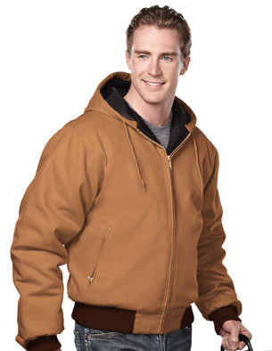 Tri-Mountain - 4600, Timberline Mens Cotton Canvas Hooded Jacket - Logo Masters International