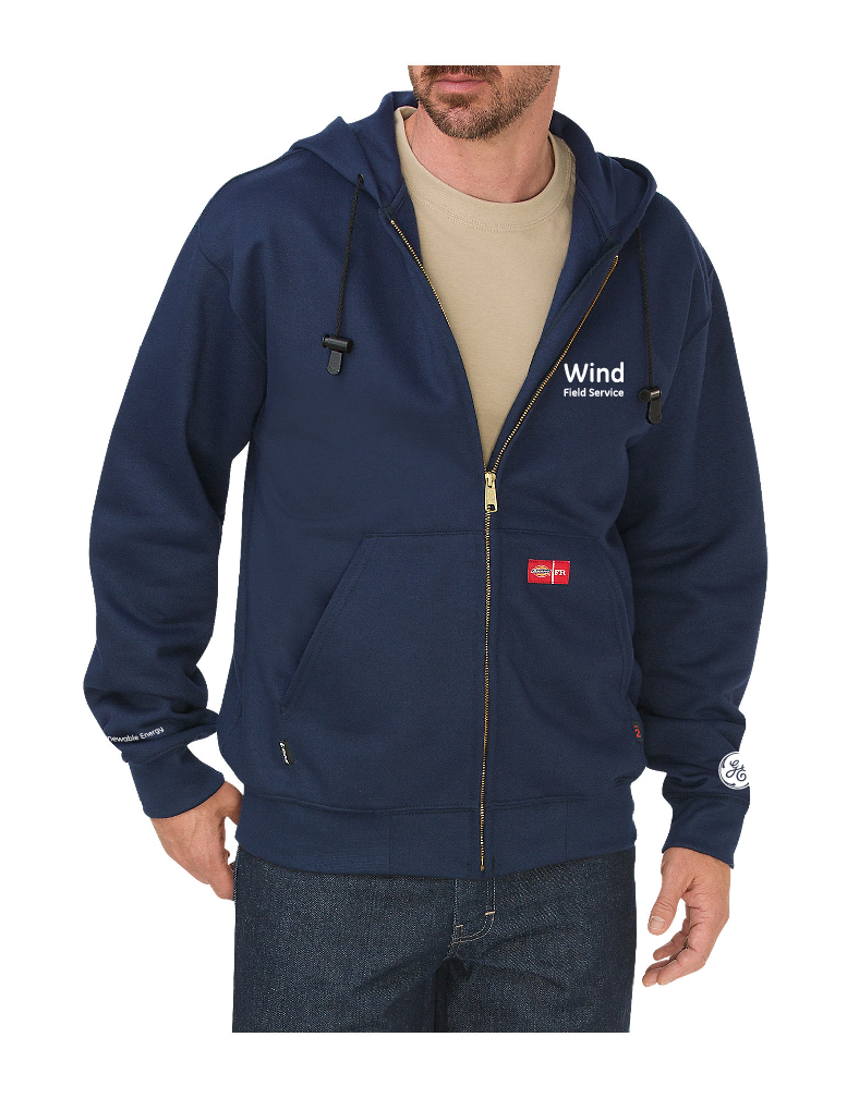 Lapco - ZFHFR14NY-GE 12oz. FR Full Zip Cold Gear Hoodies, Pensacola, Embroidery, Screen Printing, Logo Masters International
