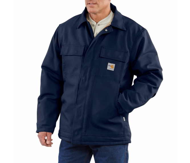 Carhartt - 101618 Flame & Arc Resistant Quilt Lined Duck Coat, Pensacola, Embroidery, Screen Printing, Logo Masters International