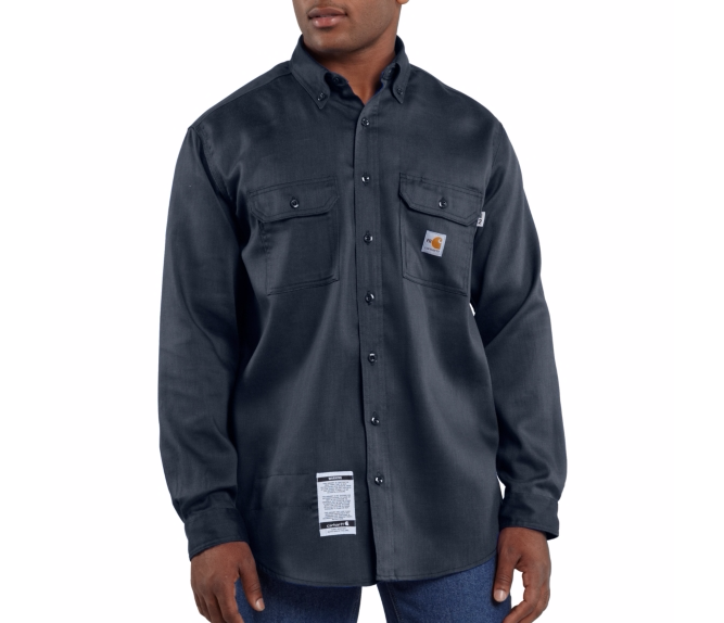 Carhartt - FRS003 Mens Flame/Arc Resistant Work-Dry Twill Shirt, Pensacola, Embroidery, Screen Printing, Logo Masters International