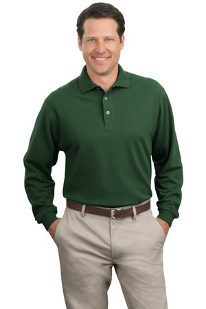 Port Authority - K320 Men's Long-sleeve Pique Polo Shirt