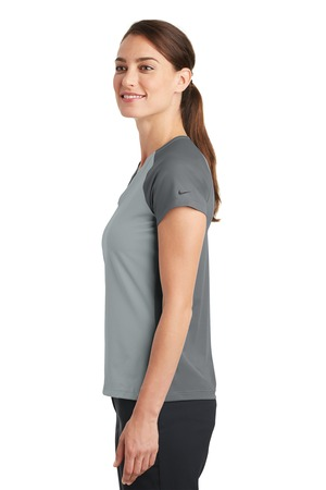Nike - 838960 Ladies Dri-FIT Stretch Woven V-Neck Top, Pensacola, Embroidery, Screen Printing, Logo Masters International