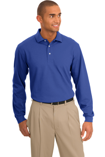 Port Authority - K455LS Men's Rapid Dry Long-Sleeve Polo Shirt, Pensacola, Embroidery, Screen Printing, Logo Masters International
