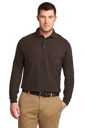 Port Authority - K500LS Men's Silk Touch Long-Sleeve Polo Shirt, Pensacola, Embroidery, Screen Printing, Logo Masters International