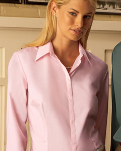 Van Heusen - 13V0114 Van Heusen Ladies Silky Poplin Shirt, Pensacola, Embroidery, Screen Printing, Logo Masters International