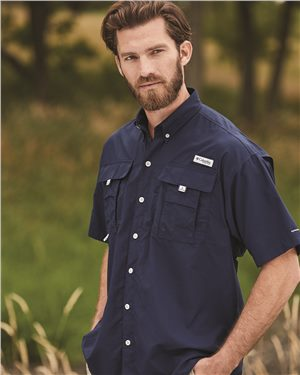 Columbia - 00224 Men's Bahama™ II Short Sleeve Shirt, Pensacola, Embroidery, Screen Printing, Logo Masters International