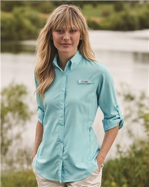 Columbia - 00324 Women's Tamiami II Long Sleeve Shirt, Pensacola, Embroidery, Screen Printing, Logo Masters International