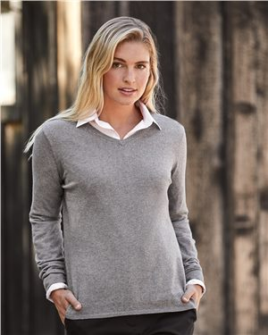 Weatherproof - 26352, Vintage Women's Cotton Cashmere V-Neck Sweater - Logo Masters International