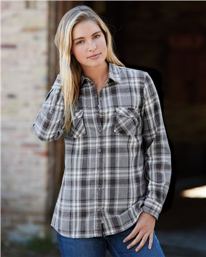 Weatherproof - 23052, Vintage Women's Burnout Flannel, Embroidery, Screen Printing - Logo Masters International
