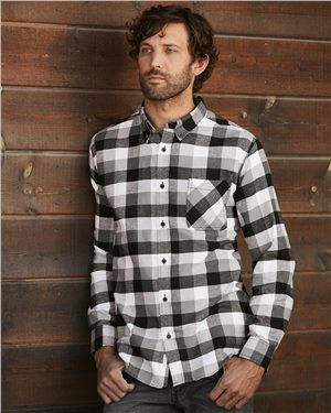 Weatherproof Men's Vintage Brushed Flannel Long Sleeve Shirt