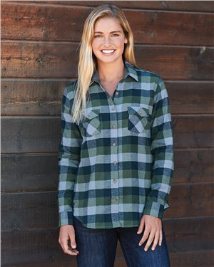 Weatherproof - 86752, Vintage Women's Brushed Flannel Long Sleeve Shirt, Embroidery, Screen Printing - Logo Masters International