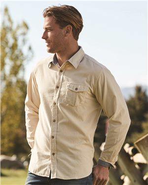 Weatherproof - 26752 Men's Vintage Mini Cord Long Sleeve Shirt
